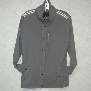 Kuhl grey lightweight snap front jacket size XL